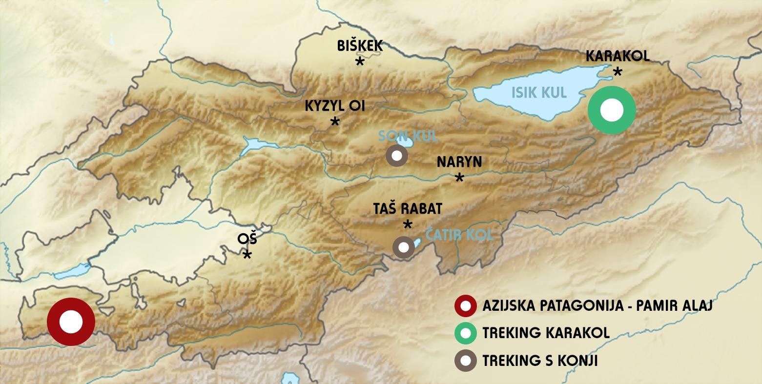 Kirgizija treking in potovanje