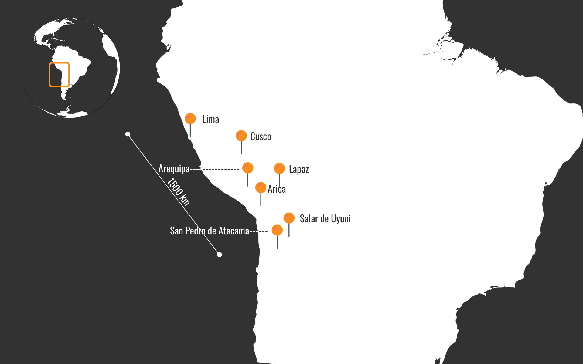 Peru Bolivija Čile - potovanje